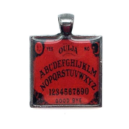 Ouija Board Pendant Resin Necklace • 37x28mm • 56100SL-372813-OUIJAR   SmokyMountainBeads.com