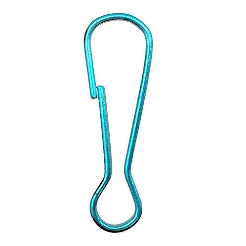 Snap Spring Hook Clasp • 23x7mm • Aqua Teal • 44SNP-30-2307-AQ | Smoky Mountain Beads