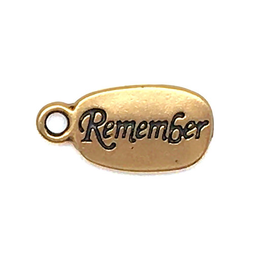 Inspiration Remember/Foot Charm • 21x10mm • 94-2251-26 | SmokyMountainBeads.com