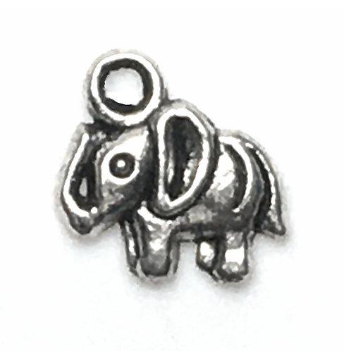 Elephant Charm • 12x12mm • 26100MTL-E1212-12 | SmokyMountainBeads.com
