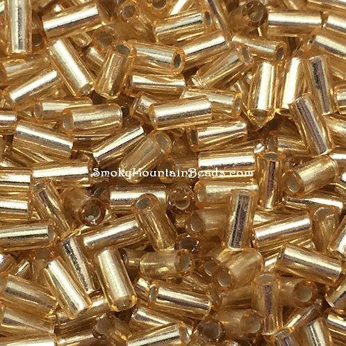 Silver-Lined Gold Bugle • 3mm • 0310-BB-003 | SmokyMountainBeads.com
