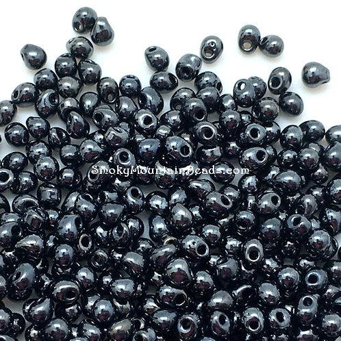Gunmetal Drop Beads • 3.4mm • DP-451   Smoky Mountain Beads