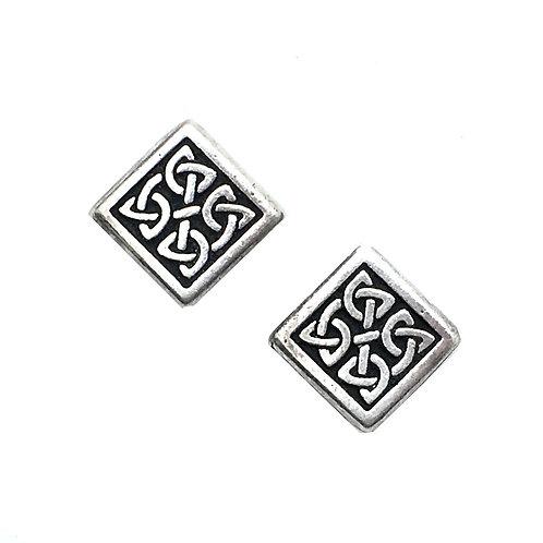 Celtic Diamond Bead • 13x13x3mm • 94-5524-12   SmokyMountainBeads.com