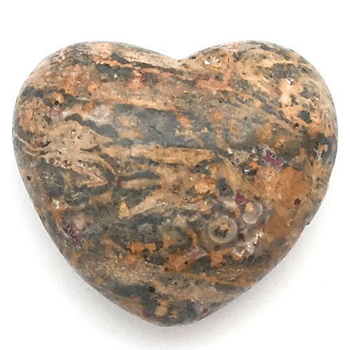 Leopard Skin Jasper Heart • Mexico • 54.8 grams ~ 45x39x25mm