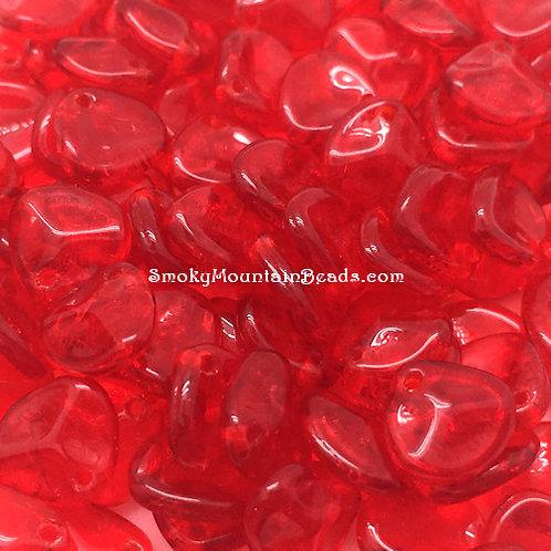 Siam Ruby Rose Petals • Czech • 340-87-9008 | Smoky Mountain Beads