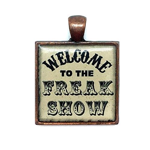Freak Show Pendant Resin Necklace • 27x28mm • 56100SL-3728A18-FREAK   SmokyMountainBeads.com