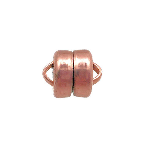 Magnetic Clasp • MAG-LOK® • 8x6mm • Copper • 44MAG-166-0806-18 | Smoky Mountain Beads