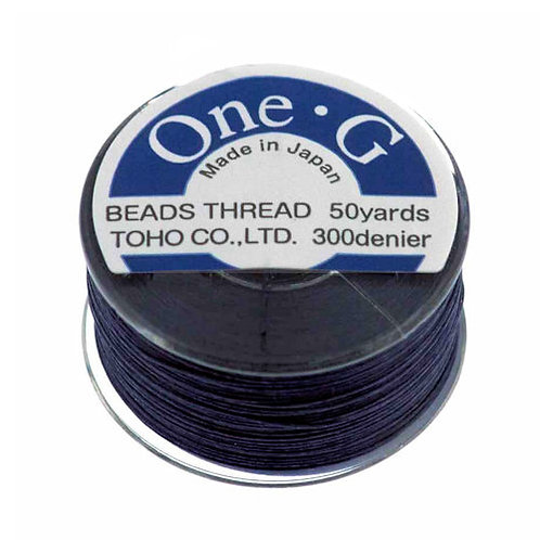 Navy • One-G® Nylon Thread | SmokyMountainBeads.com