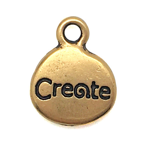 Inspiration Create/Sun Charm • 14x13mm • 94-2250-26 | SmokyMountainBeads.com