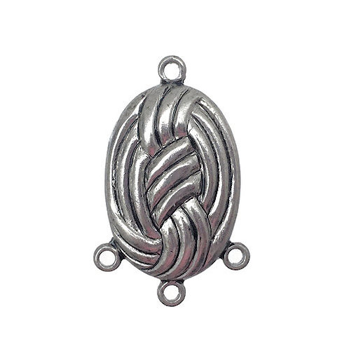 Oval Knot Chandelier • 22x14mm • Antiqued Silver-Plated • 41-492214-12   SmokyMountainBeads.com