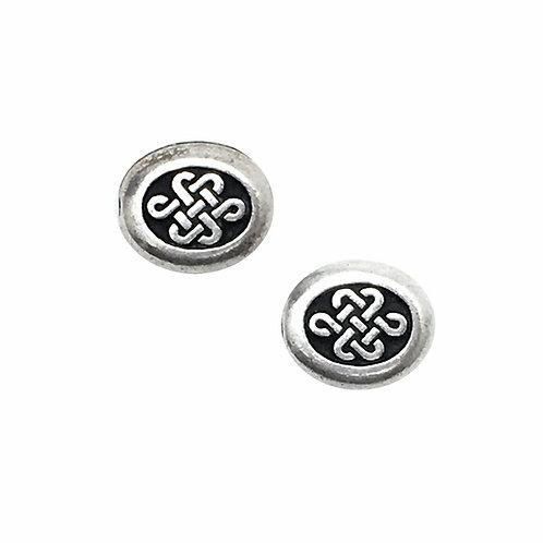 Celtic Endless Knot Beads • 9x8x4mm • 94-5541-12 | SmokyMountainBeads.com