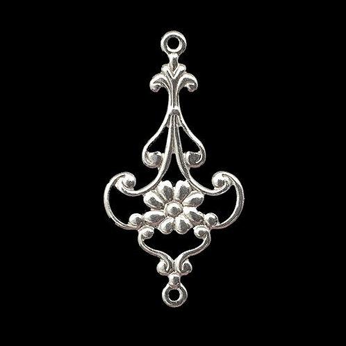 Flower Chandelier • 28x15mm • Silver-Plated • 41-372815-11 | SmokyMountainBeads.com