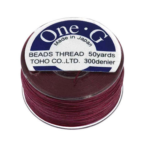 Burgundy • One-G® Nylon Thread | SmokyMountainBeads.com