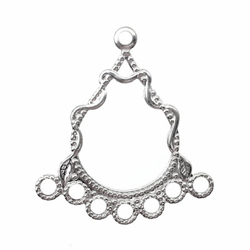 Round Vines Chandelier • 28x26mm • Silver-Plated • 41-372826-11 | SmokyMountainBeads.com
