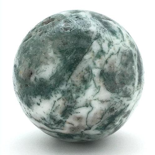 Tree Agate Sphere • Vugs • Brazil • 161.0 grams ~ 49.9mm 70100ATR