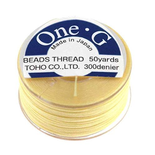Light Yellow • One-G® Nylon Thread | SmokyMountainBeads.com