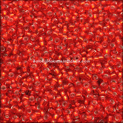 11-10 Silver-Lined Flame Red 11/0 Miyuki Seed Bead