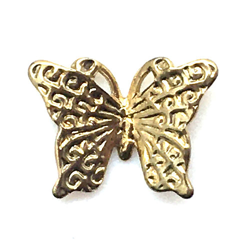Butterfly Charm • 12x9mm • 26100MTL-B1209-25 | SmokyMountainBeads.com