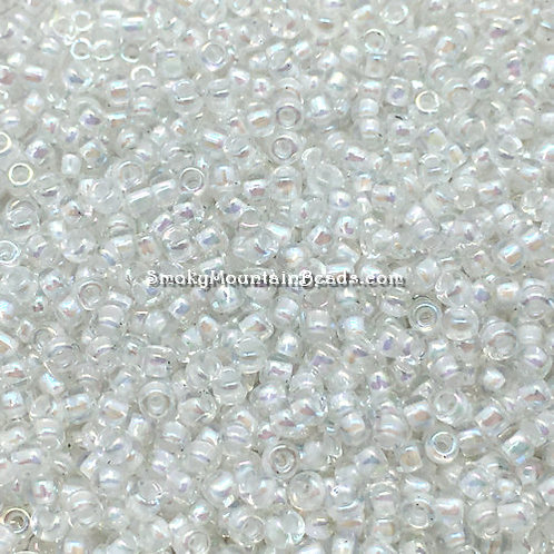 11-284 White-Lined Crystal AB 11/0 Miyuki Seed Beads   SmokyMountainBeads.com