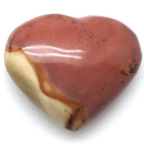 Polychrome Desert Jasper Heart • 15.7 grams ~ 33x28x14mm