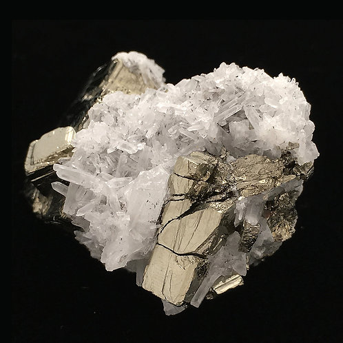 Cubic Pyrite Quartz Points Druzy • Peru • 75.8 grams ~ 52x37x33mm