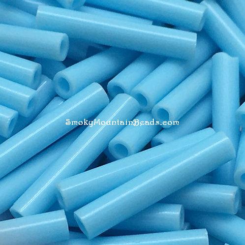 Opaque Medium Blue Bugle • 12mm • 1220-BB-63000 | SmokyMountainBeads.com