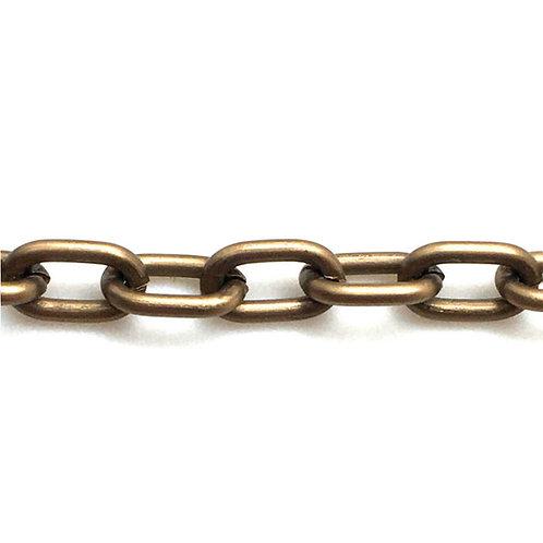 Cable Chain • Oval • Matte Tan • 7x5x1.2mm • Aluminum • 36-C-7512-M70TN   SmokyMountainBeads.com