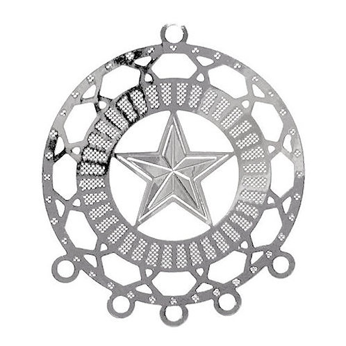 Star Circle Chandelier • 28x25mm • Silver-Plated • 41-272825-11   SmokyMountainBeads.com