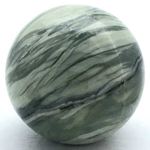Serpentine Sphere • Brazil • 84.3 grams ~ 39.4mm