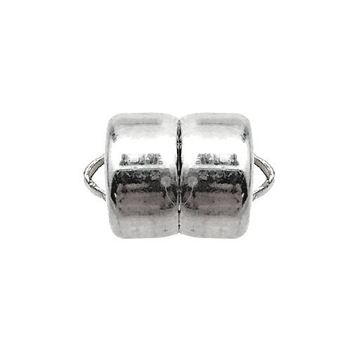 Magnetic Clasp • MAG-LOK® • 12x8mm • Silver-Plated • 44MAG-166-1208-11 | Smoky Mountain Beads