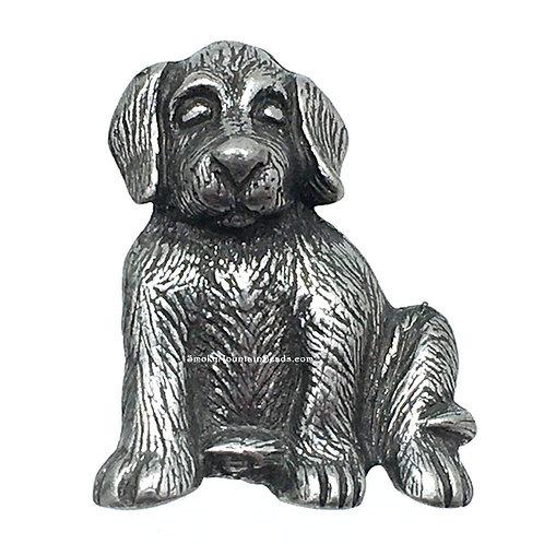 Max the Dog Pewter Shank Button • 22x17mm • DF0250-50 | SmokyMountainBeads.com