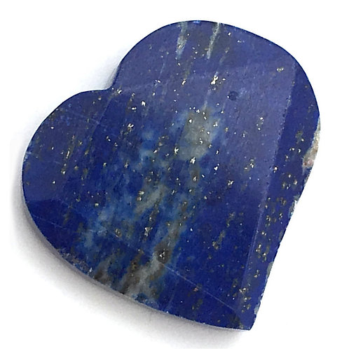 Lapis Lazuli Heart • Top Grade Drilled • Afghanistan • 13.7 grams ~ 33x31x7mm