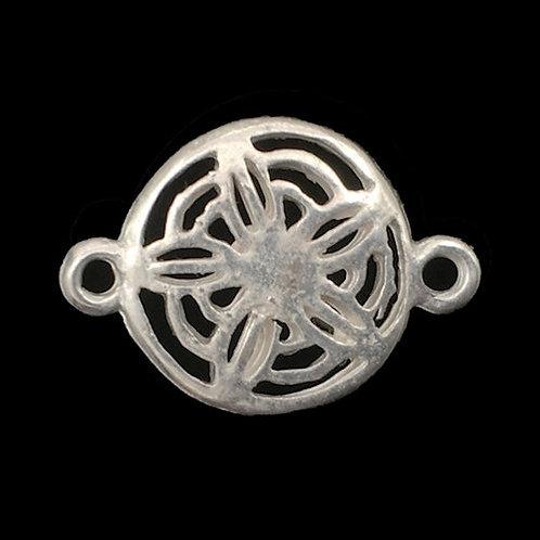 Link Star Flower • 21x15mm • Matte Silver-Plated • 33LINK-702115M-11 | SmokyMountainBeads.com