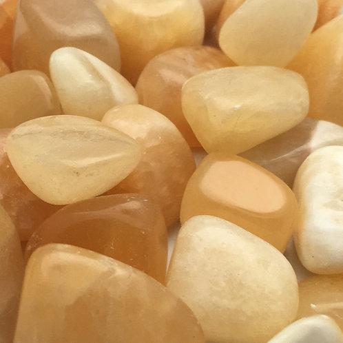 Orange Calcite Tumbles • Mexico • Small