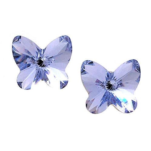 Swarovski Butterfly Earrings • Tanzanite • ER2854-539ST10 | SmokyMountainBeads.com