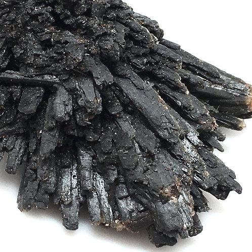 90100KYBBF Black Kyanite Fan 41.9 grams ~ 59x56x18mm