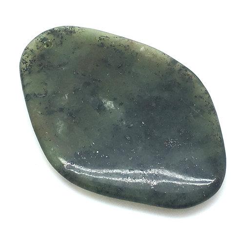 Nephrite Jade Drilled Pendant • China • 34.1 grams ~ 70x49x7mm