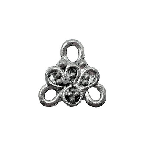 Tiny Flower Chandelier • 10.5x11mm • Antiqued Silver-Plated • 41-371111-12 | SmokyMountainBeads.com
