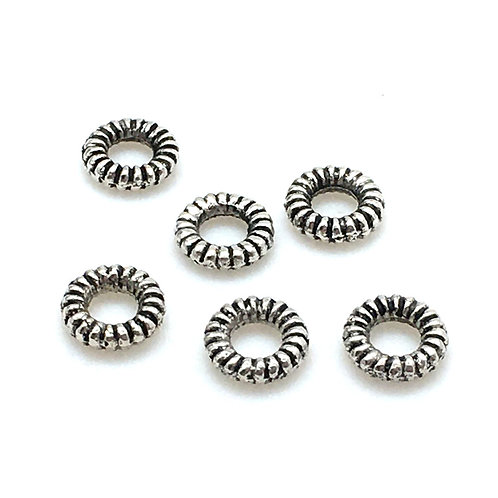 Coiled Ring Spacer  • 1.7x6mm (6) • 94-5595-12 | Smoky Mountain Beads