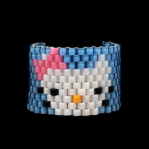 Hello Kitty  Ring • Hand-Stitched • Size 5 • RG01-CS-HKITTY   SmokyMountainBeads.com
