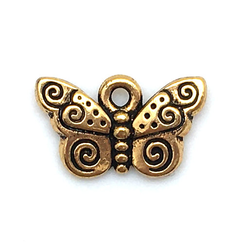 Spiral Butterfly Charm • 16x10mm • 94-2162-26 | SmokyMountainBeads.com
