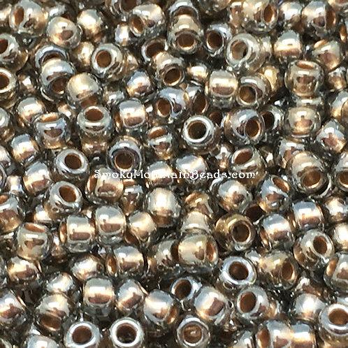 11-378D Metallic Dark Antiqued Gold Lined Crystal 11/0 Seed Beads | SmokyMountainBeads.com