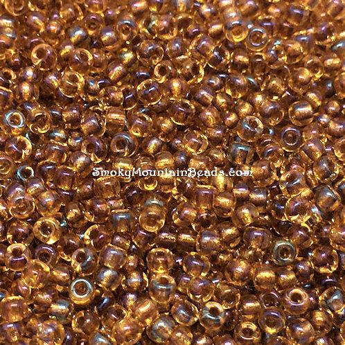 11-377 Sparkling Topaz-Lined Light Topaz AB 11/0 Miyuki Seed Beads | SmokyMountainBeads.com