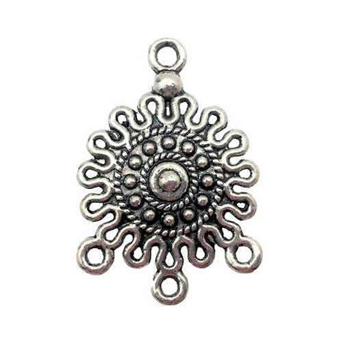 Sun Chandelier • 26x18mm • Antiqued Silver-Plated • 41-282618-12 | SmokyMountainBeads.com