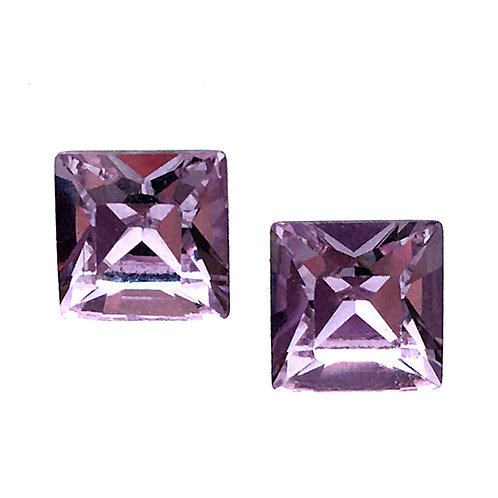 Swarovski Square Earrings • Violet • ER2483-371ST8 | SmokyMountainBeads.com