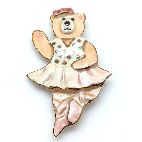 Dancing Ballerina Bear Pin • 10.1 grams ~ 69x43x10mm • PIN-DBEAR-Po | Smoky Mountain Beads