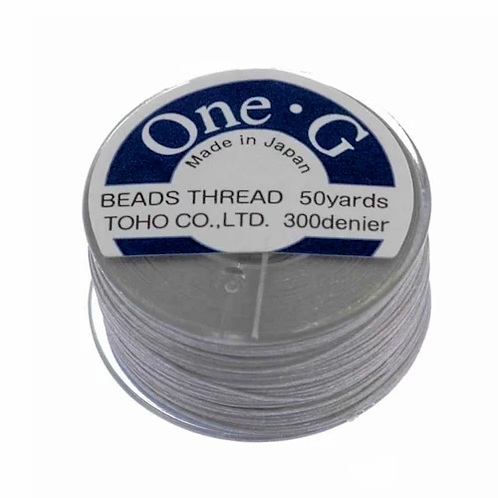Light Gray • One-G® Nylon Thread | SmokyMountainBeads.com
