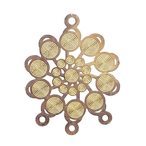 Circles Chandelier • 24x19mm • Gold-Plated • 41-702419-25 | SmokyMountainBeads.com