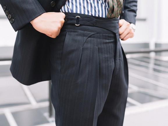 Charcoal Single Oval Ring Gurkha Trousers