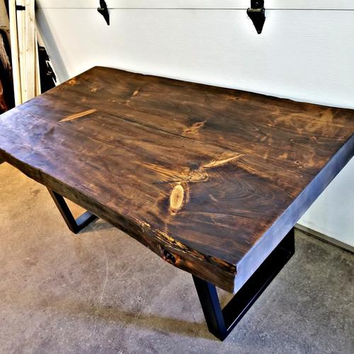 Tables de cuisine en bois massif qu bec rustik meubles design for Table en bois de cuisine